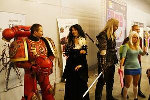 Cosplay makers at convention