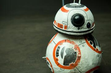 Cosplay prop BB8 robot made with craft products