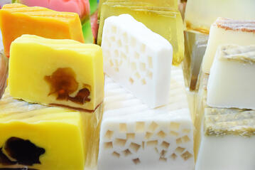 Decorative handmade soaps