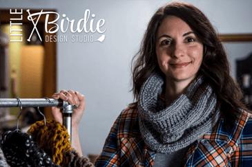 Tori Tedesco knitter and designer of Little Birdie Design Studio