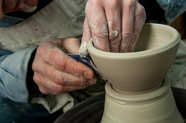 Ceramicist Pottery Maker Throwing Clay